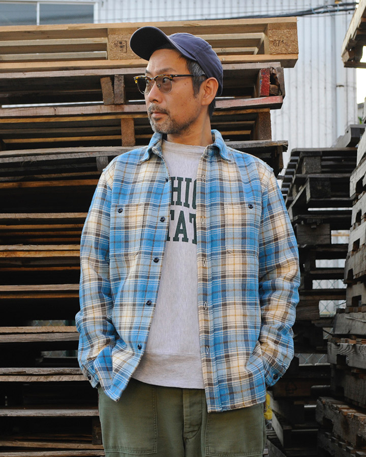 FIVE BROTHER x BACKDROP EXTRA HEAVY FRANNEL SHIRT