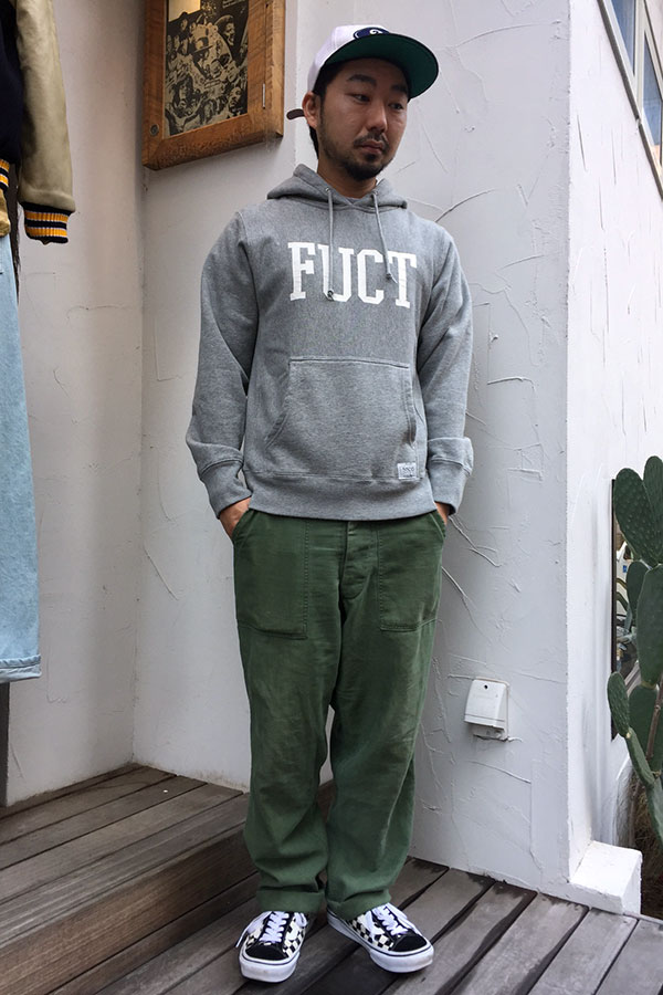 【FUCT】(ファクト) PULLOVER HOODED (H.GRY)