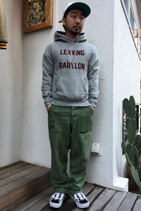 【FUCT】(ファクト) LEAVING BABYLON PULLOVER HOODED (H.GRY)