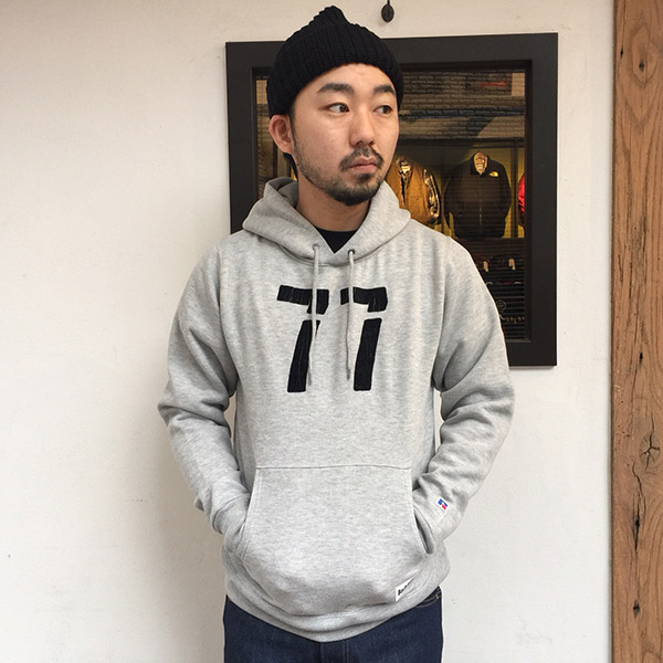 【RUSSELL ATHLETIC x BACKDROP】(バックドロップ別注) PULLOVER HOODIE (ヘザーグレー)