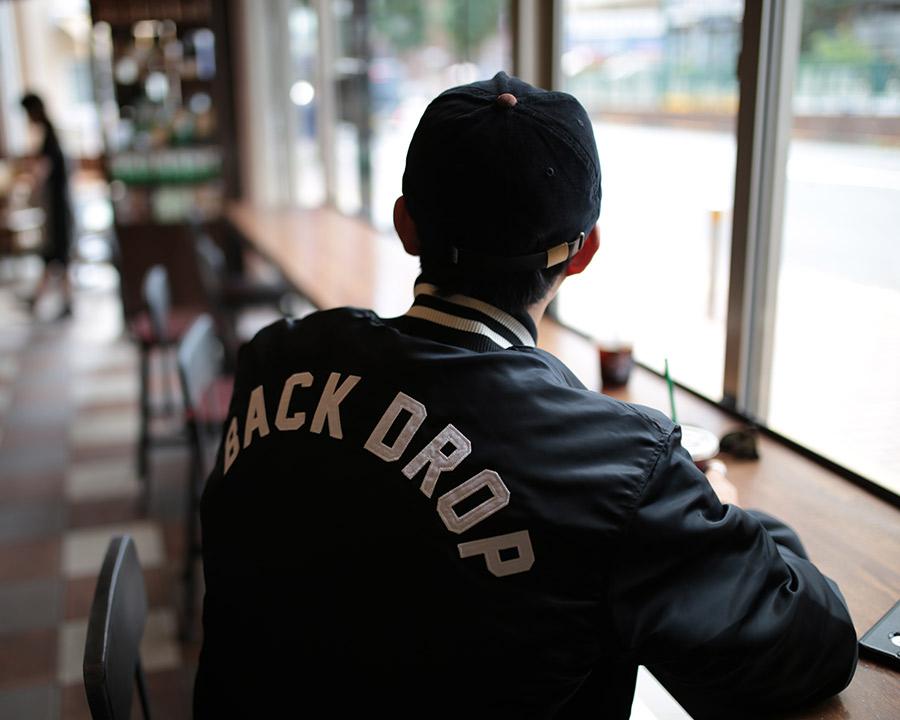 【BACKDROP x STARTER】(バックドロップ別注) TEAM JACKET (ブラック)